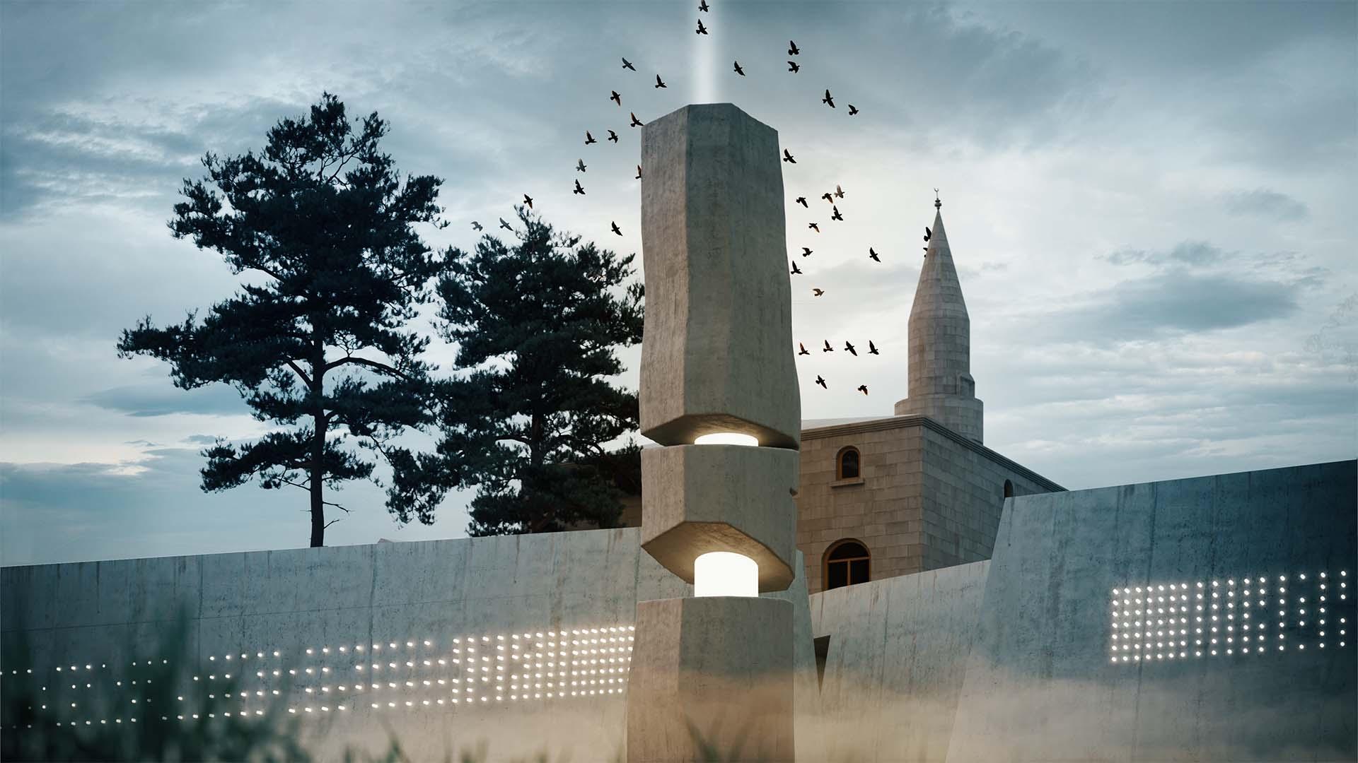 Anıt Heykele Bakış
