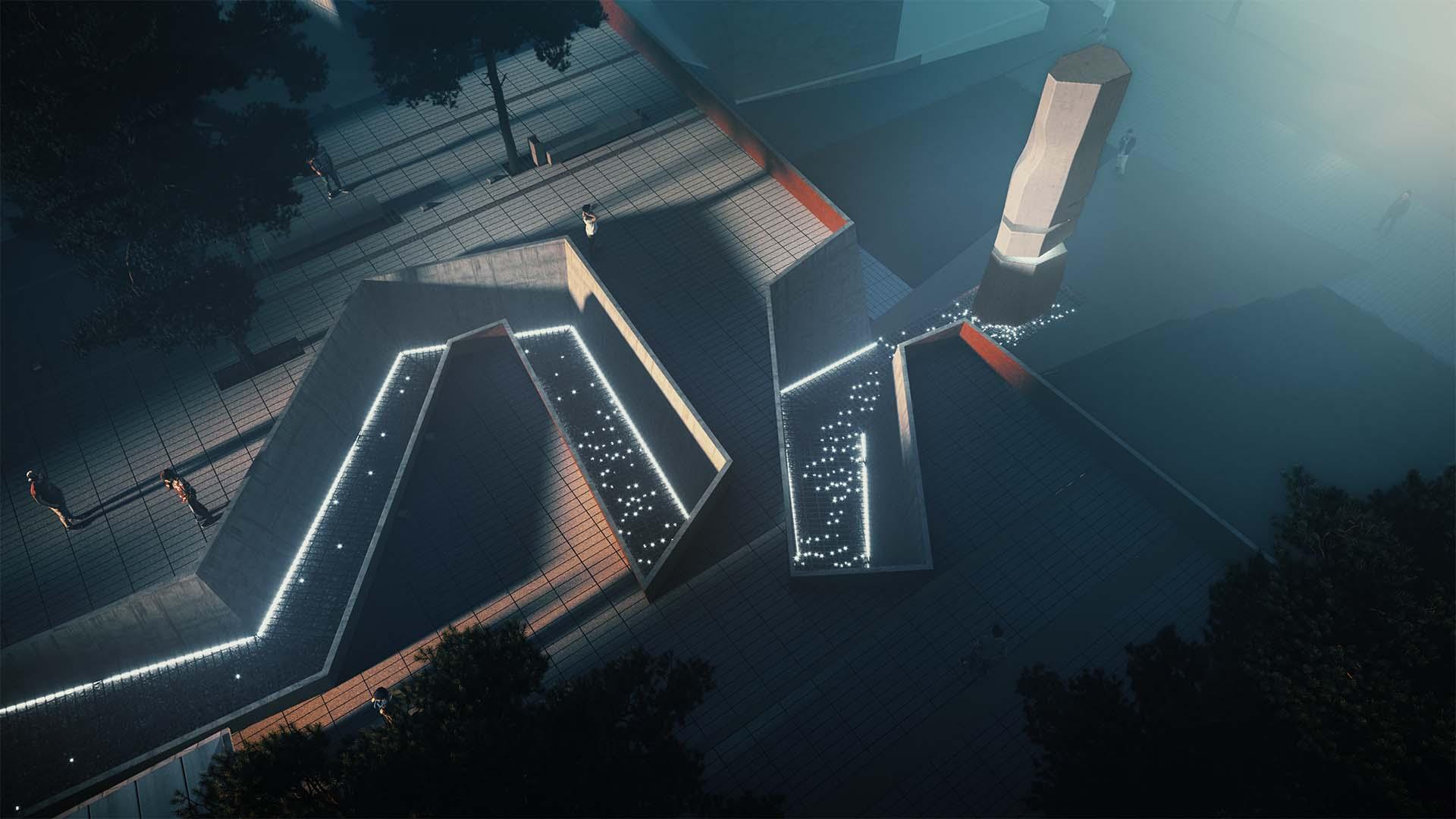 Anıta Çıkan Yol Aerial Bakış