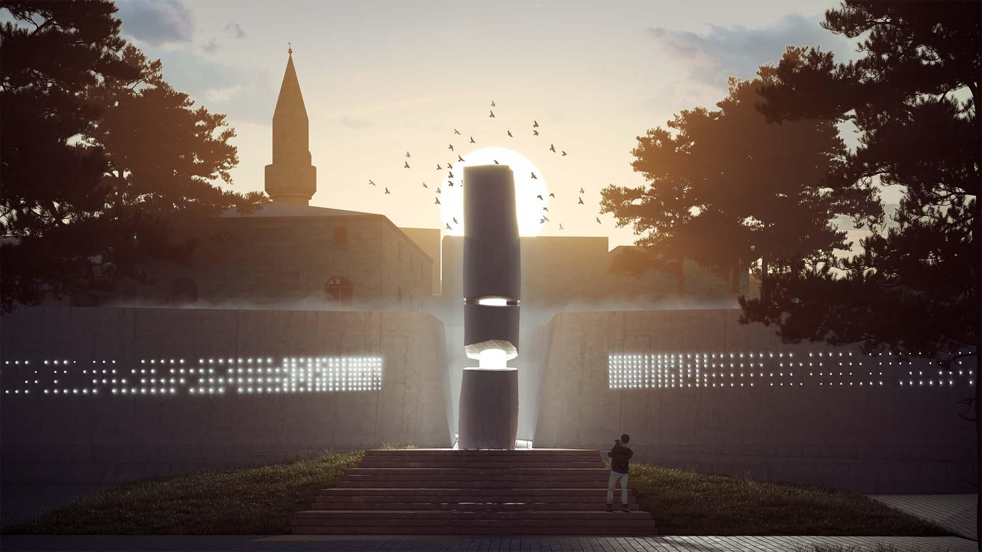 Gün Batımında Anıt