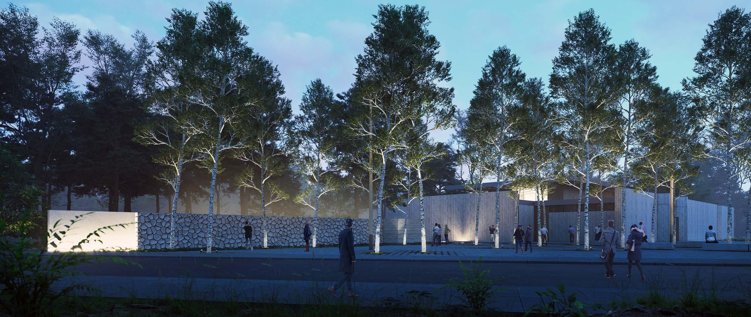 Anıt Duvar, Geniş Yaya Aksı