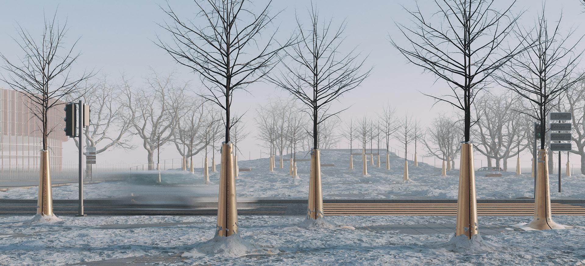 Kış Mevsiminde Meydana Bakış