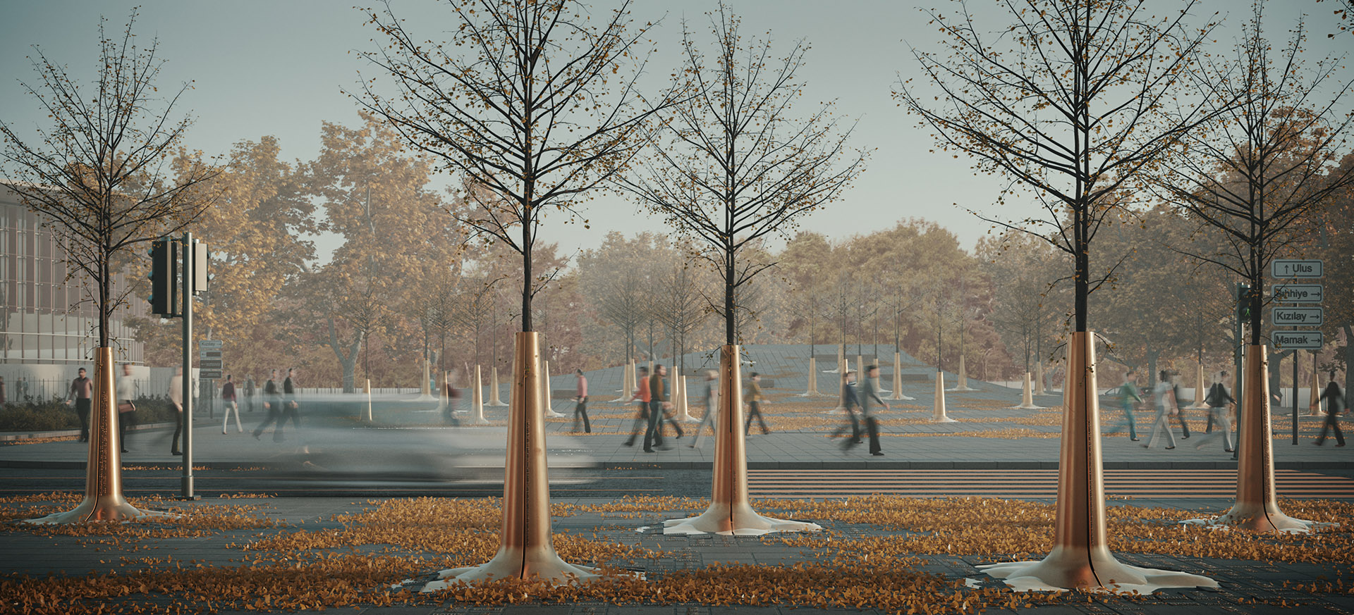 Sonbahar Mevsiminde Anıt Meydan