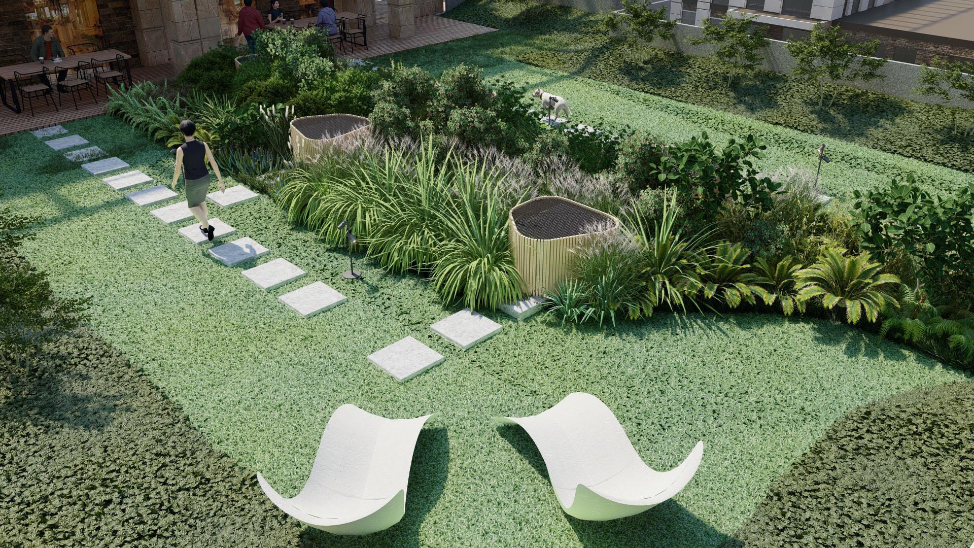 Bitkisel Tamponla Ayrılmış Yeşil Bahçeler