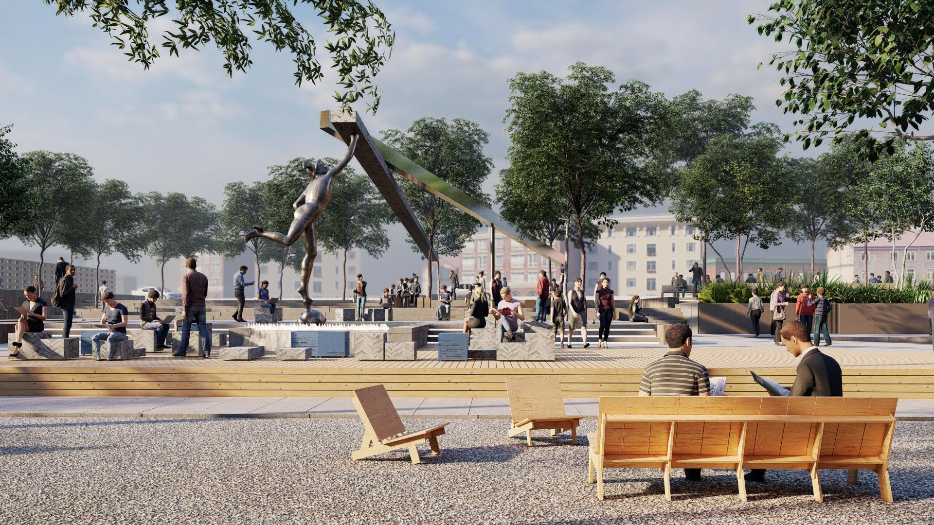 Sanat ve Tarihin Birleştiği Meydan Heykeli