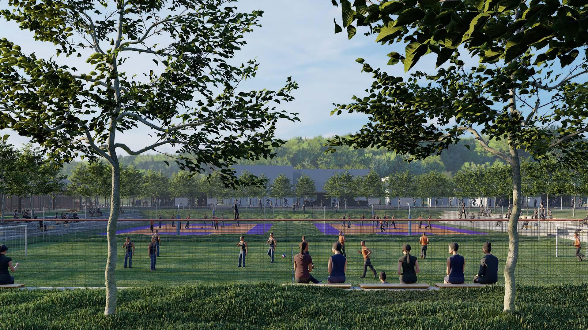 Spor Alanları ve Amfi Oturma Alanı