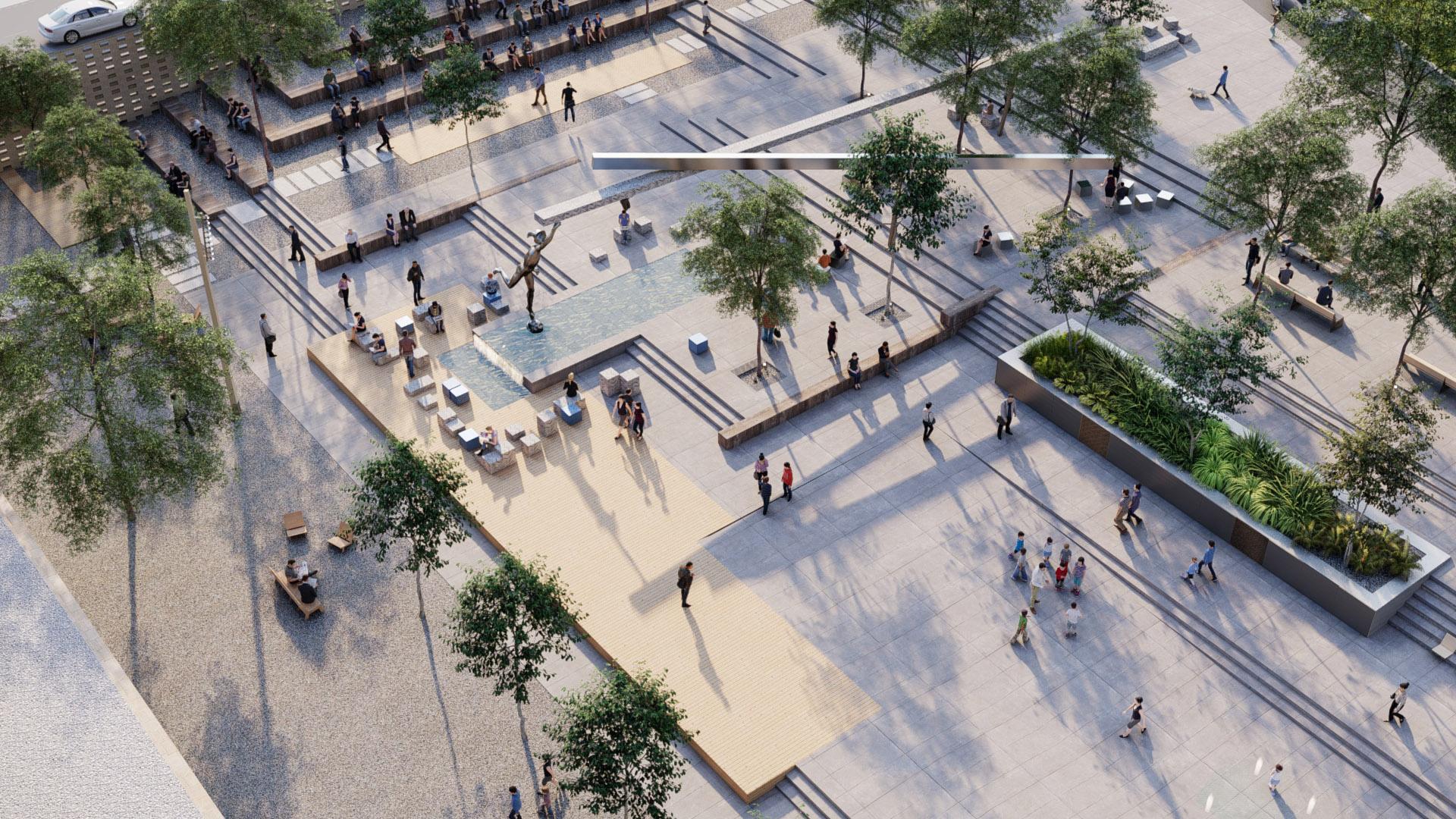 Meydana Bakan Aerial Görüntü