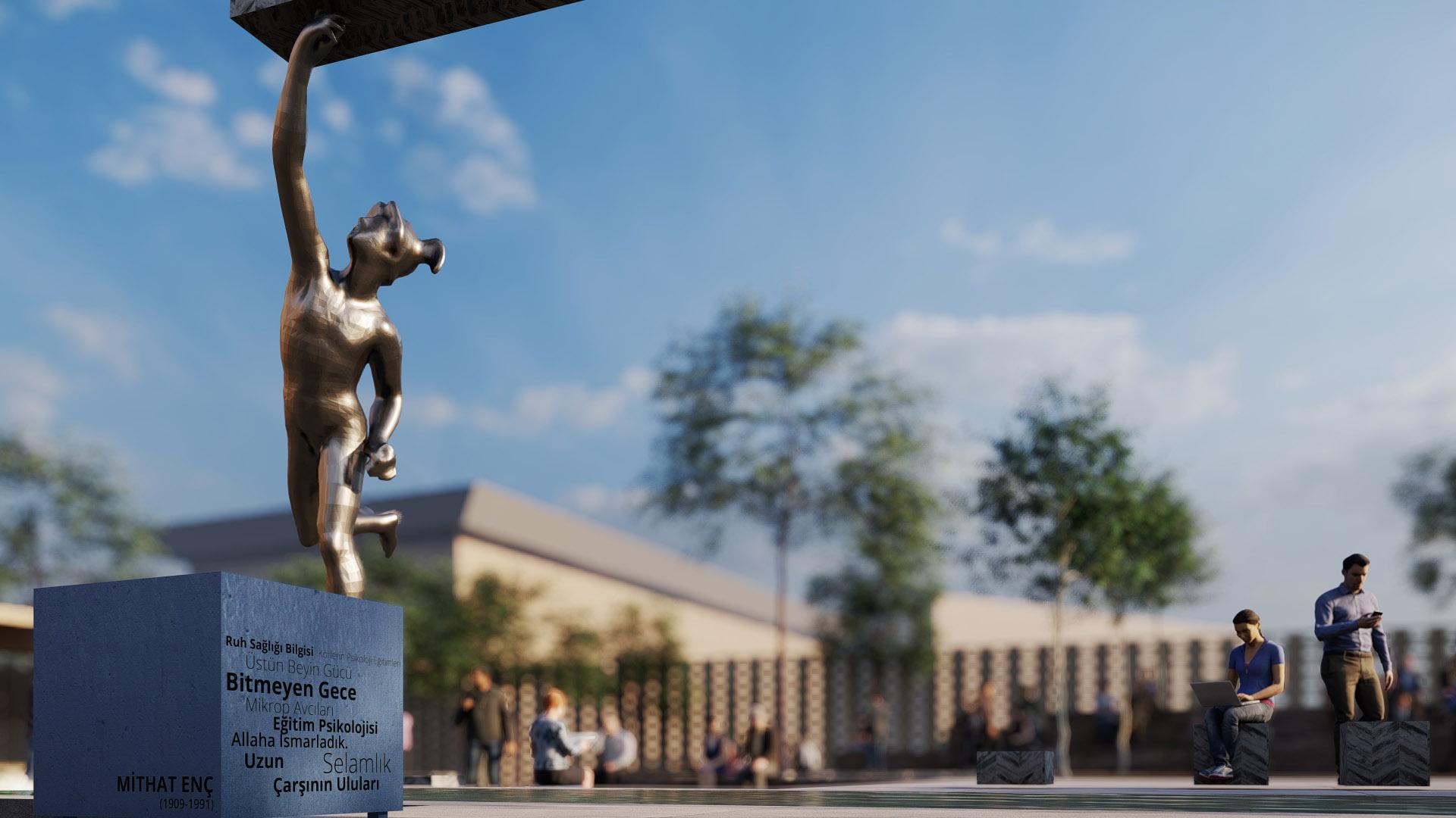 Meydanı Tanımlayan Heykel ve Bellek Oturma Birimleri