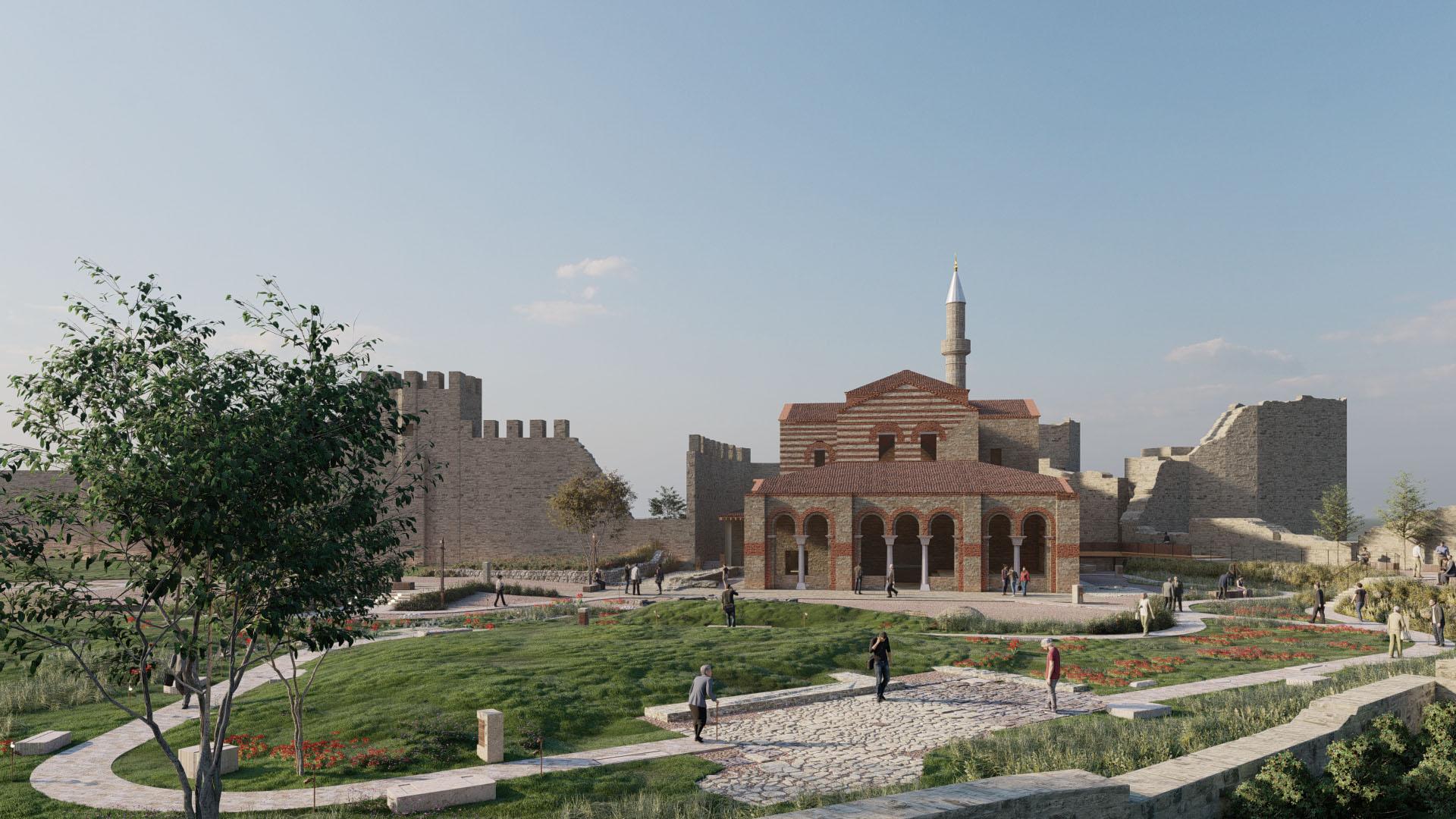 Tarihi Enez Camii ve Avlusuna Genel Bakış